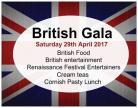 British Gala Postcard Advertising